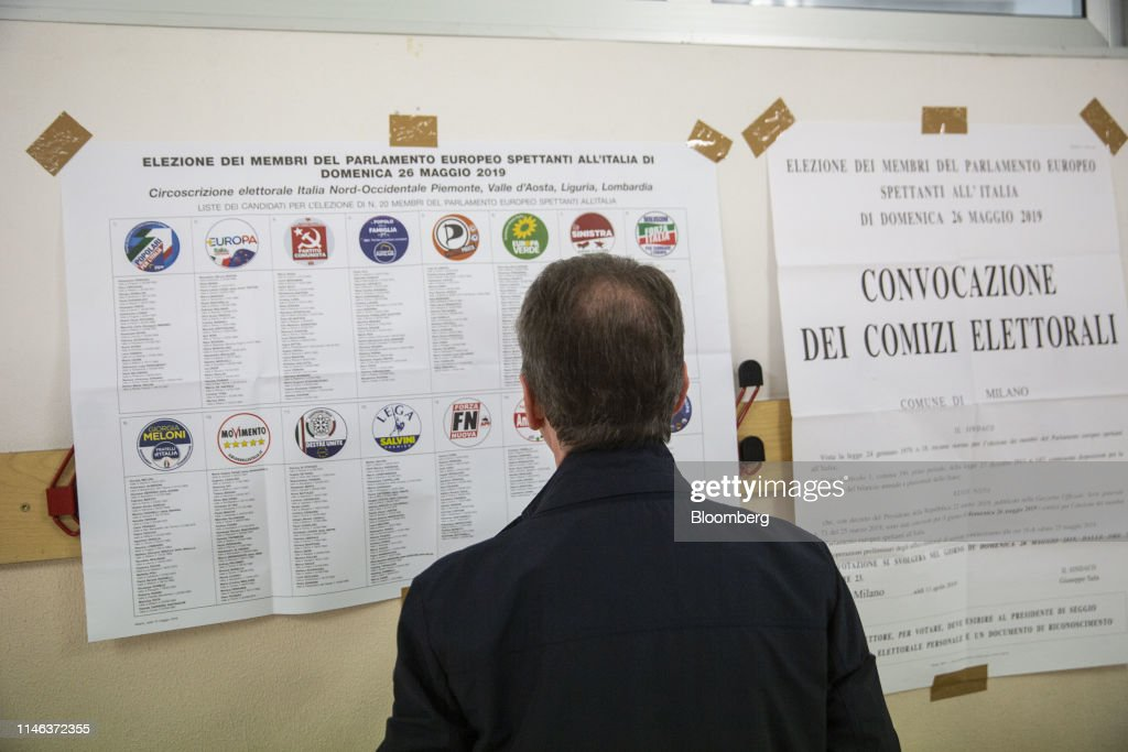 ITA: Italy's Deputy PM Matteo Salvini Votes In The European Parliamentary Elections