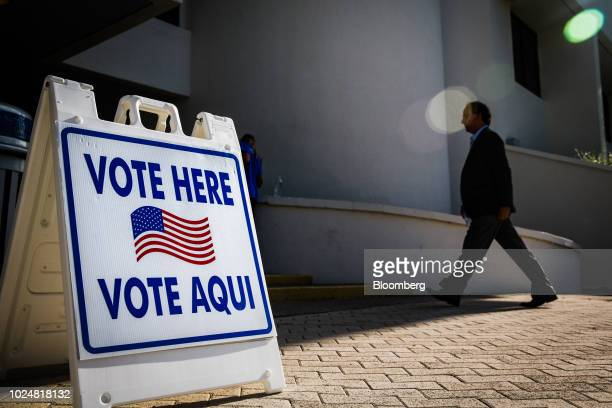 A voter enters a polling location in Miami Beach Florida US on Tuesday Aug 28 2018 The Senate contest in Florida is all but set between threeterm...