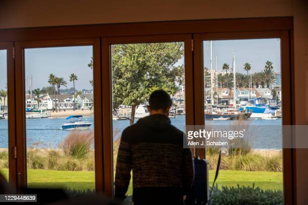 Voter has a scenic view of Newport Harbor while voting at Marina Park Community Center on election day Tuesday, Nov. 3, 2020 in Newport Beach.