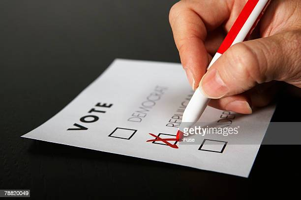 Voter Marking a Ballot