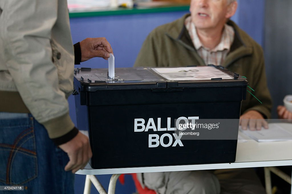 U.K. Voters Head To The Polls At U.K.'s General Election : News Photo