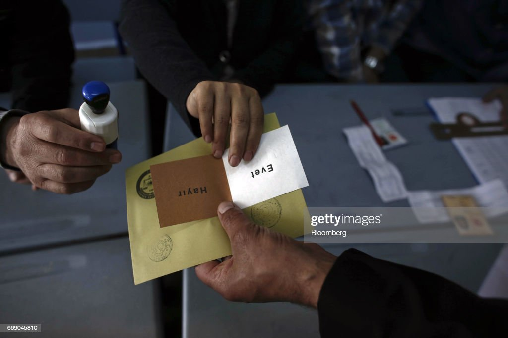 Turkish Referendum Vote To Expand Presidential Powers : News Photo