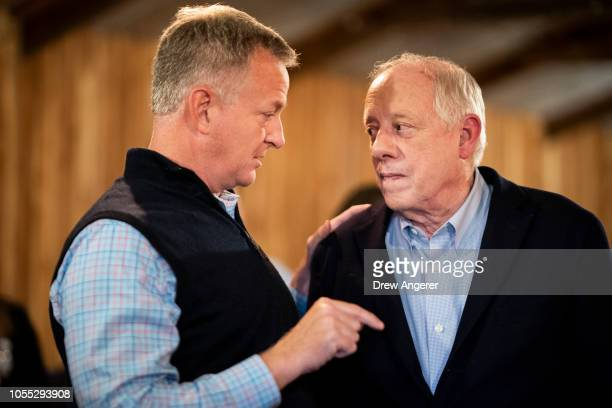 A voter speaks with Democratic candidate for US Senate Phil Bredesen during a GetOutTheVote rally October 29 2018 in Murfreesboro Tennessee Bredesen...
