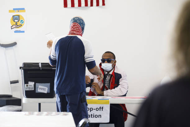 CA: California Residents Cast Ballots During Early Voting For U.S. Presidential Election
