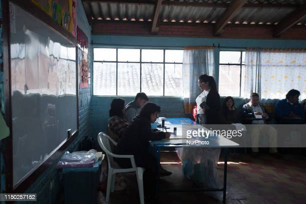 Voters arrive at a polling station during the first round of presidential election in Quetzaltenango in Guatemala June 16 2019