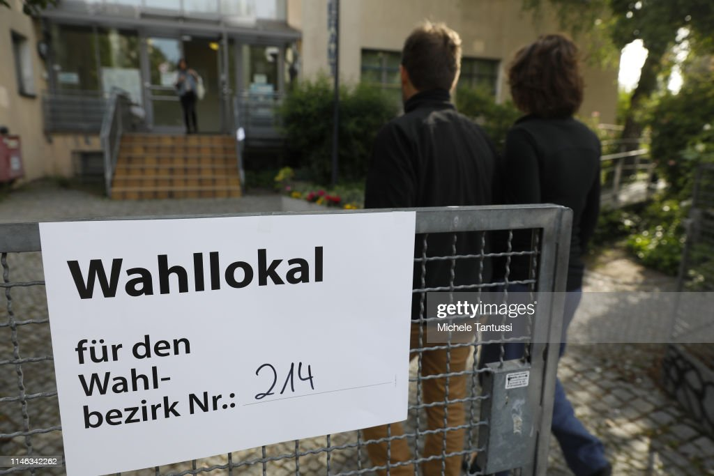 DEU: German Voters Go To The Polls In EU Parliamentary Elections