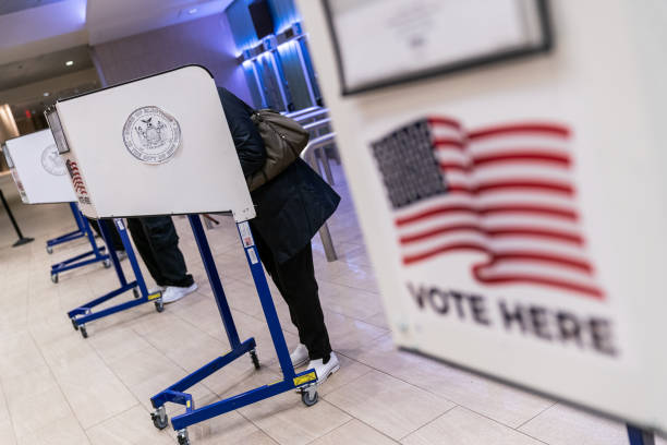 NY: New York Residents Cast Ballots As Early Voting For U.S. Presidential Election Begins