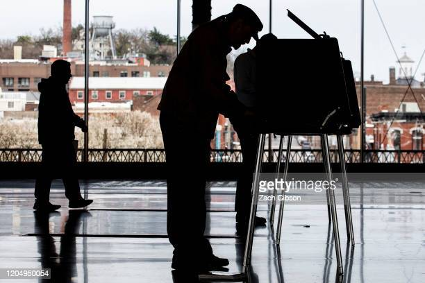 Voters cast their ballots at Main Street Station on March 3 2020 in Richmond Virginia 1357 Democratic delegates are at stake as voters cast their...