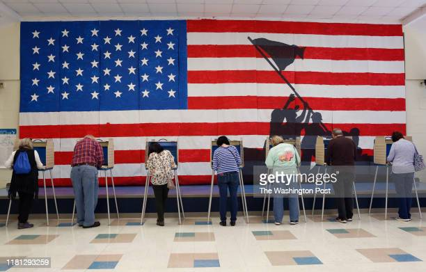 Voters cast their ballots at Robious Elementary School Tuesday November 5 2019 in Chesterfield County Va