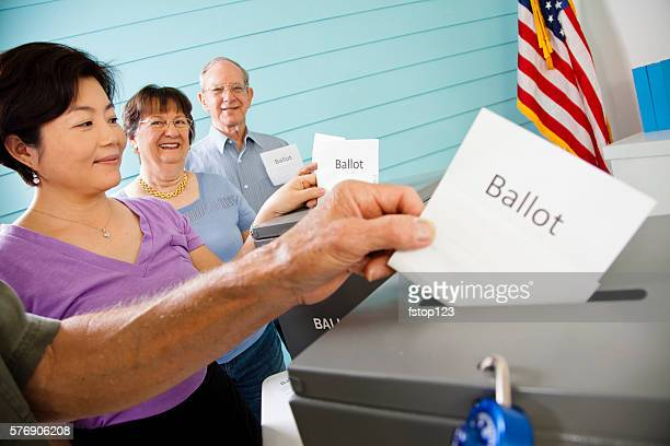 Voters casting ballot in November United States elections.  Voting.