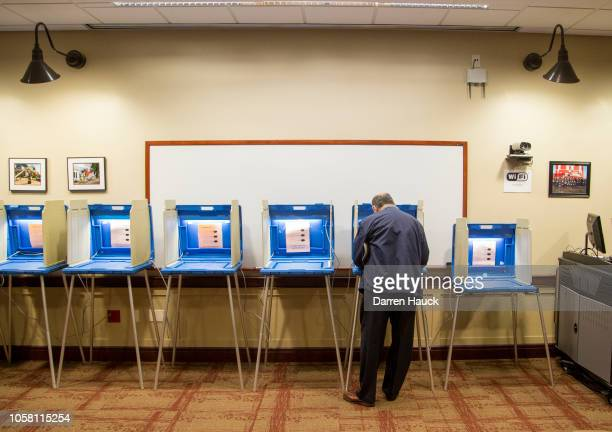Voters go to the polls to cast their midterm ballots on November 6 2018 in Wauwatosa Wisconsin Voters are turning out in historic numbers to cast...