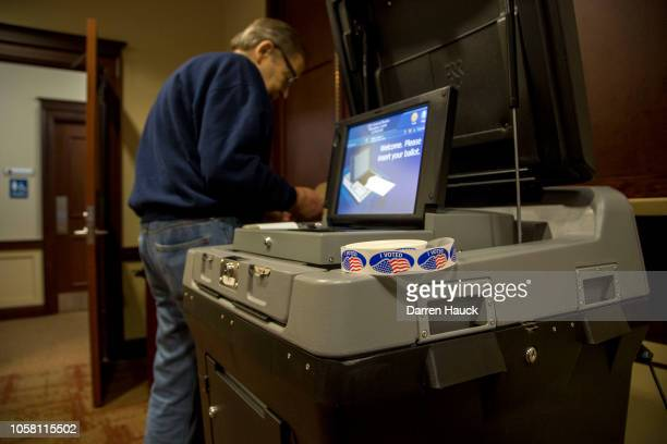 Voters go to the polls to cast their midterm ballots on November 6, 2018 in Wauwatosa, Wisconsin. Voters are turning out in historic numbers to cast...