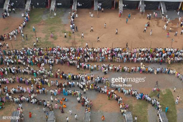 voters in queue polling station, mumbai, maharashtra, india, asia - polling station stock pictures, royalty-free photos & images