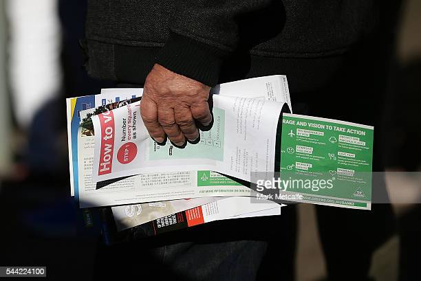 Voters in the electorate of Banks arrive to vote at Padstow Park Public School on July 2 2016 in Sydney Australia Voters head to the polls today to...