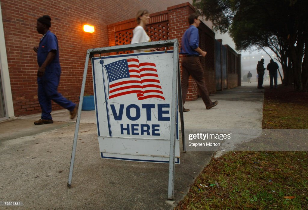 Voters Participate In Georgia's Super Tuesday Primary : News Photo