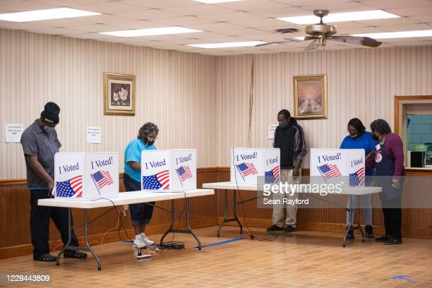Voters make their selections at Mt. Zion AME Church on November 3, 2020 in Florence, South Carolina. After a record-breaking early voting turnout,...