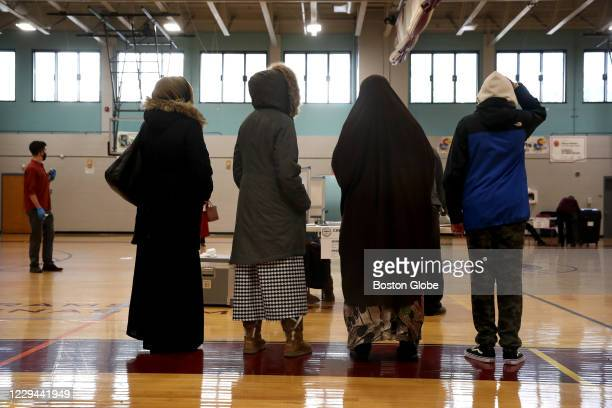 Voters pickup their ballots at the BCYF Shelburne Community Center in the Roxbury neighborhood of Boston, MA on election day, November 03, 2020....