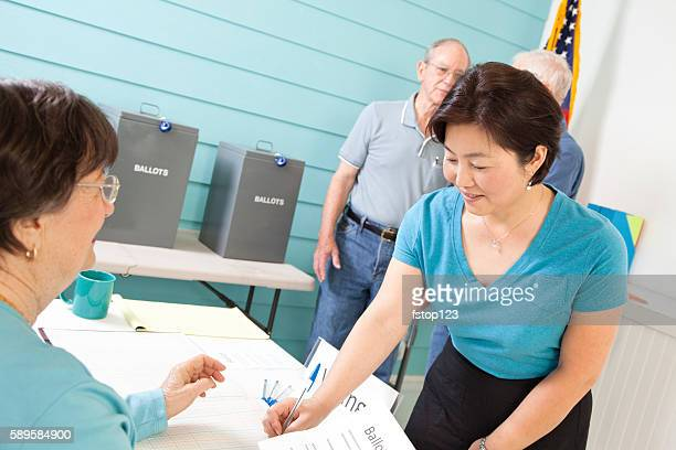 Voters registering, voting in the November United States elections.