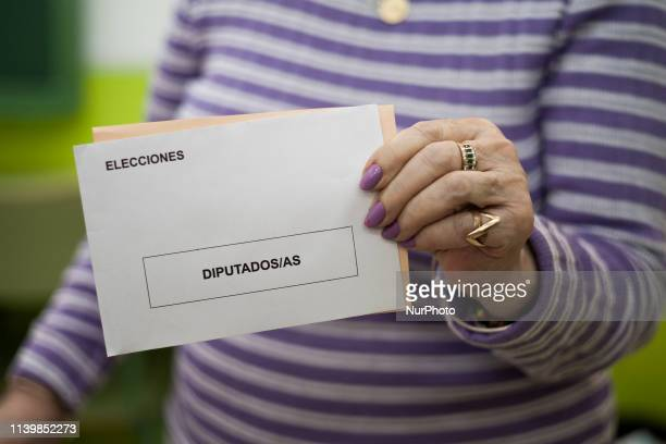 Voters their ballots at a polling station in Madrid during general elections in Spain on April 28 2019 Spain returned to the polls for unpredictable...