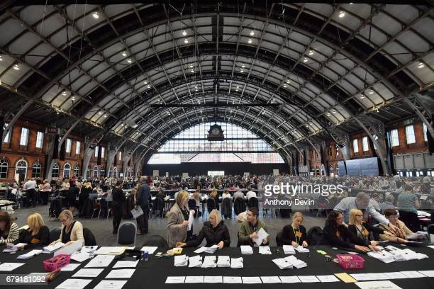 Votes are counted for the Greater Manchester mayoral election at Manchester Central on May 5 2017 in Manchester England Six new metro Mayors are...