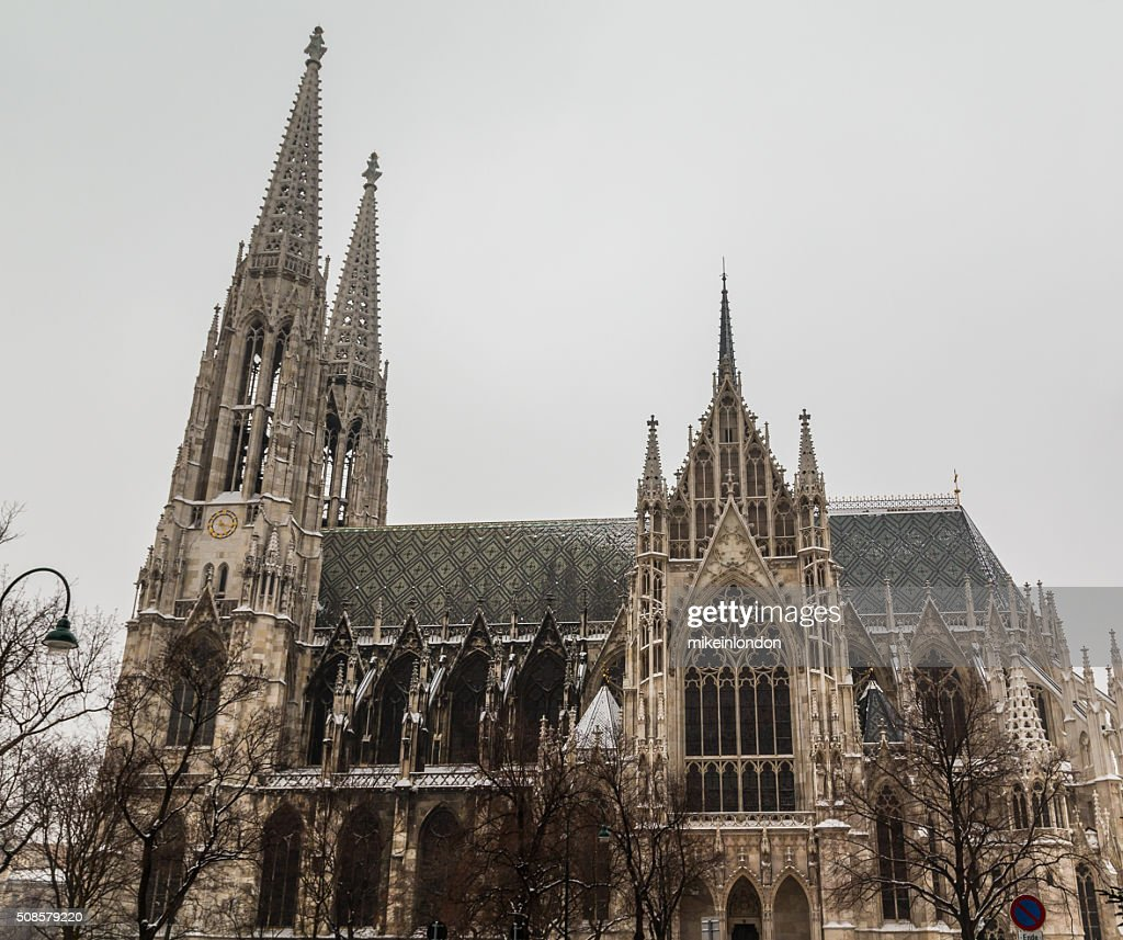 Votice Church in Vienna in the Winter with Snow : Stock Photo