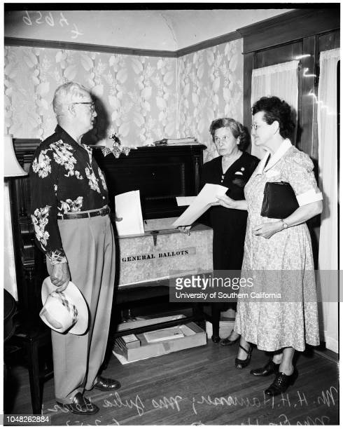 Voting 3 June 1952 Laurie Ann Frisco 11 monthsFrank FriscoLynn Frisco 2 1/2 yearsMrs Alvera Frisco Mrs Mary SosaMiss Daisy Winfrey Mr HH HammerMrs...