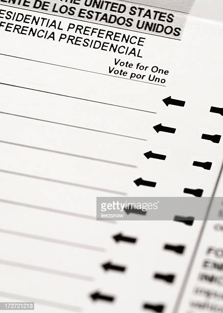 voting ballot close up - voter registration stock pictures, royalty-free photos & images