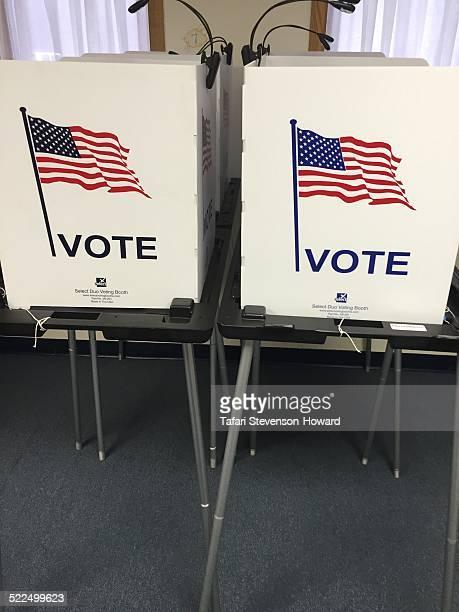 2014 voting booths at New Progressive Church in Ann Arbor MI