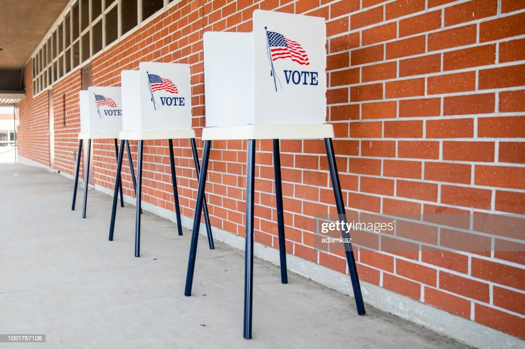 Voting Booths with no people : Stock Photo