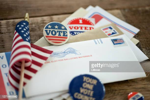 voting by mail concept - presidential election stock pictures, royalty-free photos & images