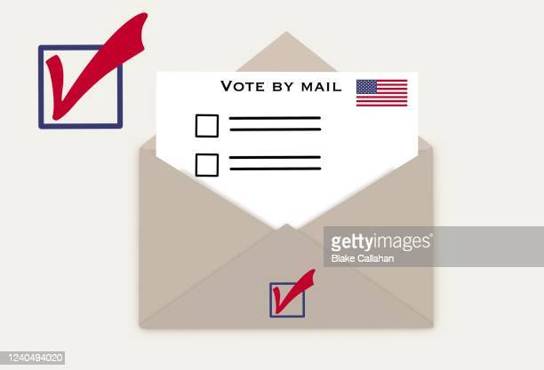 voting by mail in election - ballot stock pictures, royalty-free photos & images