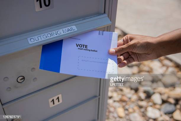 voting by mail - ballot slip stock pictures, royalty-free photos & images
