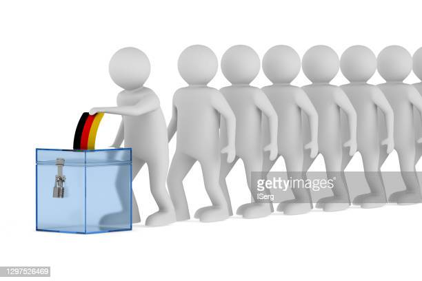 voting germany white background isolated 3d