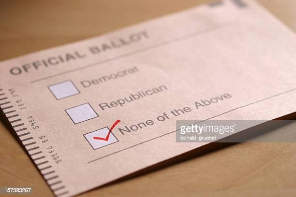 vote indépendant - parti politique photos et images de collection