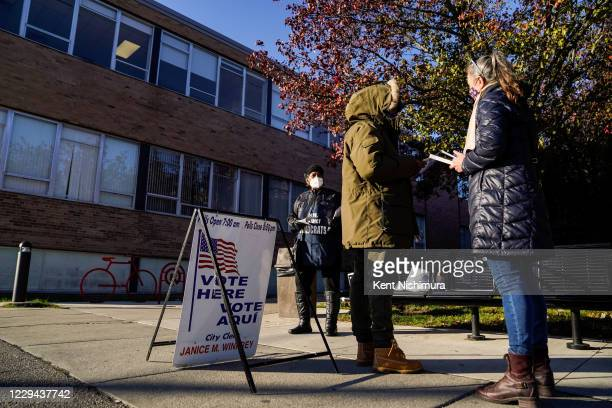 Voting on Election Day at a polling place at the Norhtwest Activity Center on Tuesday, Nov. 3, 2020 in Detroit, MI. Preceded by an unprecedented...