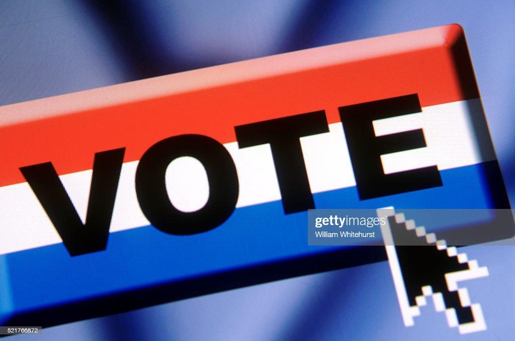 Voting On-line : Stock-Foto