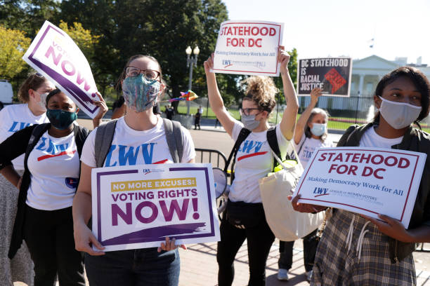 DC: People For The American Way Hold Rally Supporting Voting Rights Legislation