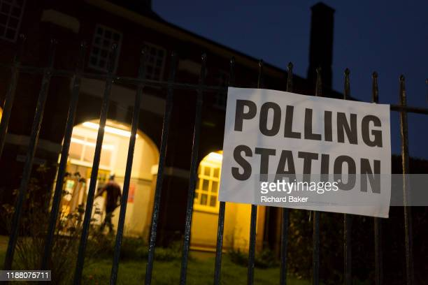 Voting starts as dawn breaks over the church of St Saviour's in the south London borough of Lambeth serving as a polling station for the UK's General...
