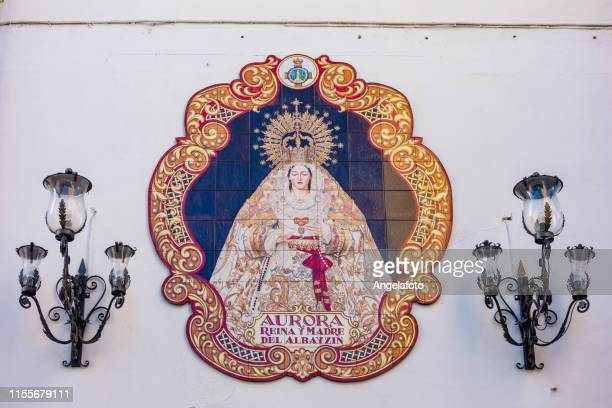 votive aedicule, spain - religious symbol stock pictures, royalty-free photos & images