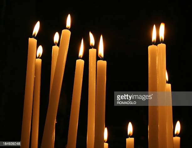 Votive Candle in a Catholic Church, Rome Italy