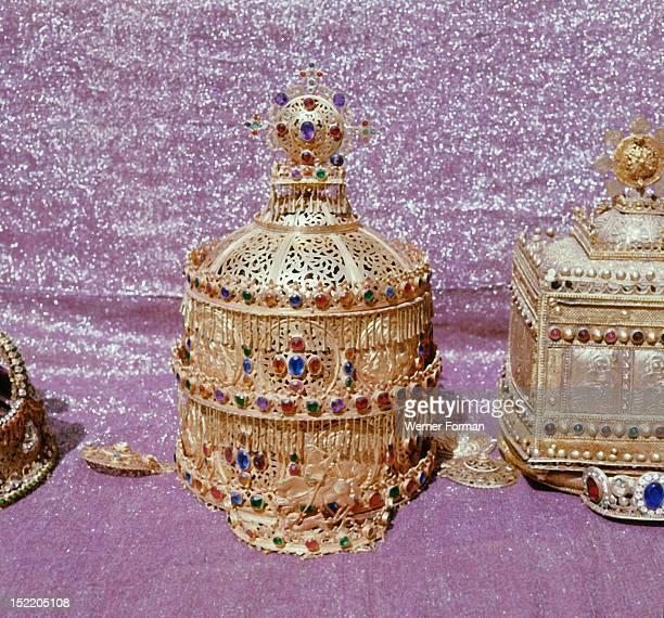 Votive crown of Menelik II dedicated after the Ethiopian victory over the Italian invasion in 1896 Ethiopia Coptic 19th c Axum