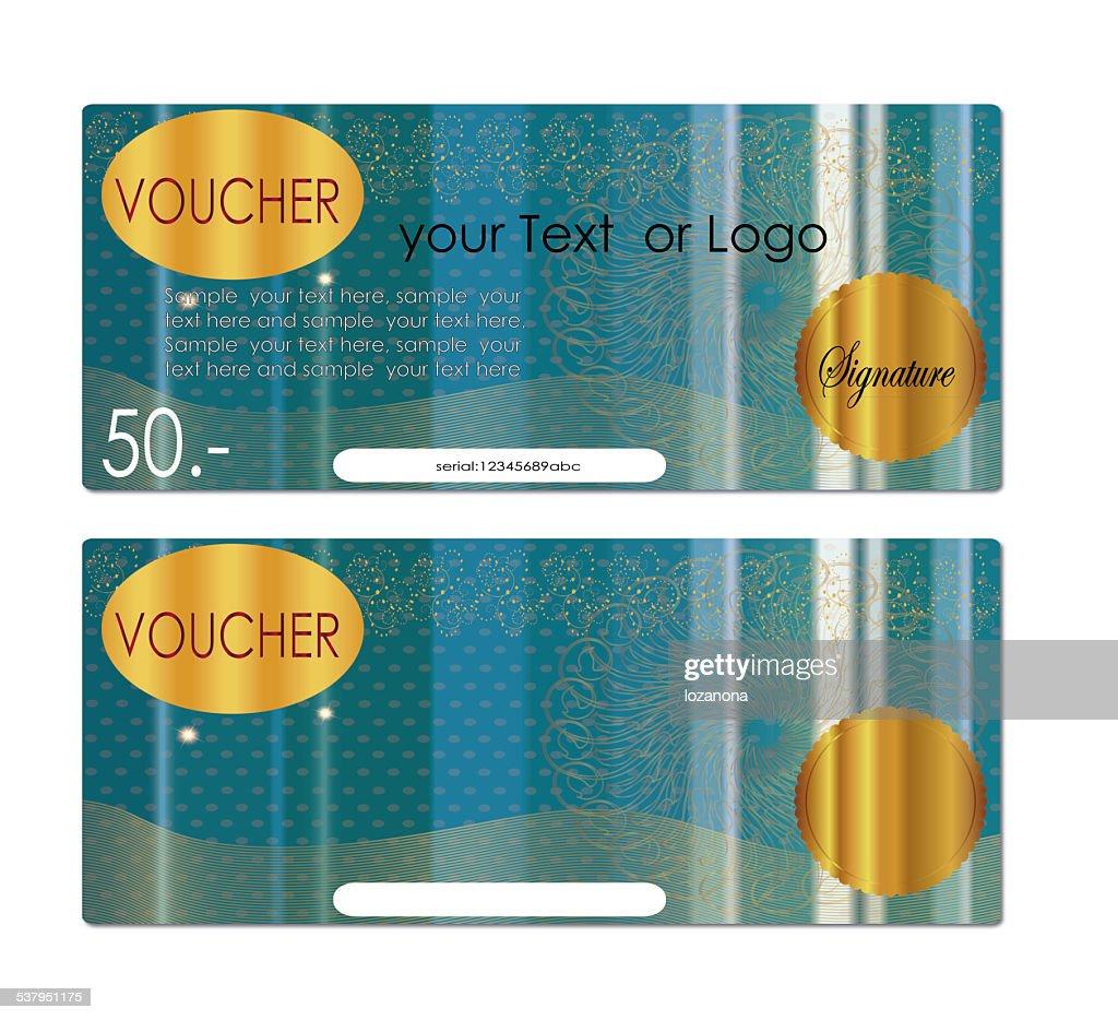 voucher  Gift certificate : Stock Photo