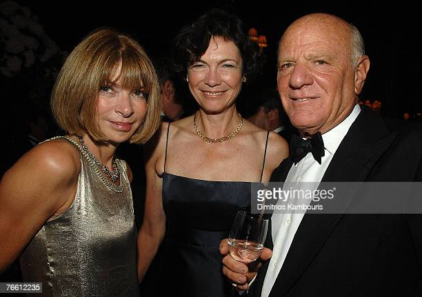 Vouge Editor Anna Wintour, Diana Taylor and Barry Diller attends Mercedes-Benz Fashion Week Spring 2008 Ralph Lauren Show at Central Park...