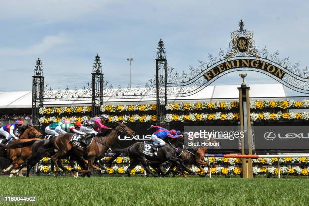 Vow And Declare ridden by Craig Williams wins the Lexus Melbourne Cup ,at Flemington Racecourse on November 05, 2019 in Flemington, Australia.