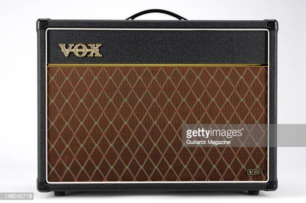 A Vox AC15VR electric guitar amplifier during a studio shoot for Guitarist Magazine March 1 2010