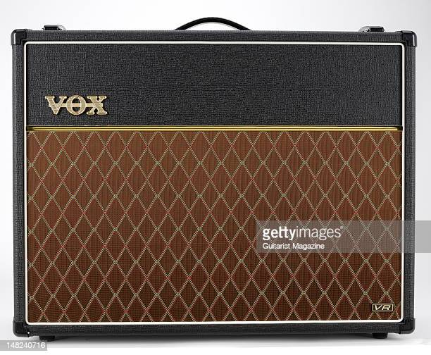 A Vox AC30VR electric guitar amplifier during a studio shoot for Guitarist Magazine March 1 2010