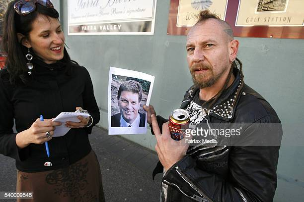 Vox pop by Alex Roginski testing Melburnians' ability to recognise Liberal Ted Baillieu Shows Bucky 21 July 2006 THE SUNDAY AGE Picture by KEN IRWIN