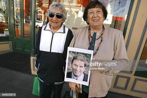 Vox pop by Alex Roginski testing Melburnians' ability to recognise Liberal Ted Baillieu Shows Hilda Wallace left and Marianne Freedman 21 July 2006...