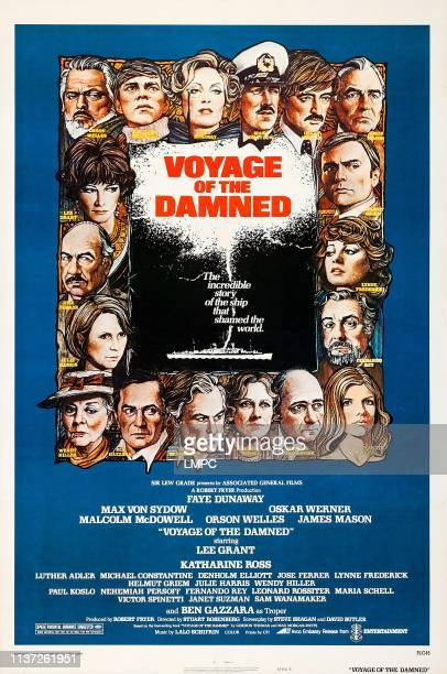 Voyage Of The Damned poster clockwise from top left Orson Welles Malcolm McDowell Faye Dunaway Max Von Sydow Oskar Werner James Mason Helmut Griem...