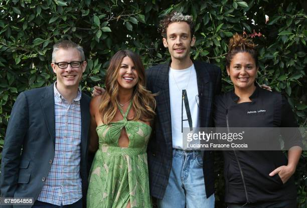 VP/executive director VHI Save The Music Foundation Henry Donahue chef Nikki Martin singer Wrabel and chef Antonia Lofaso at VH1 Save The Music...